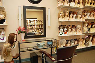 inside our wig boutique