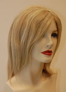 blonde wig at Brigitte's wig boutique