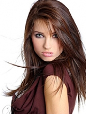 long brunette